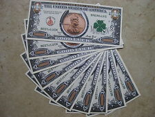 GOOD LUCK MILLION DOLLAR NOVELTY BANKNOTES LOT OF (10) GREAT GIFT IDEA FOR ALL !