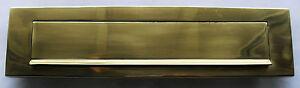 Messing Briefeinwurf 330 x 85 mm Briefklappe Briefschlitz Briefkasten