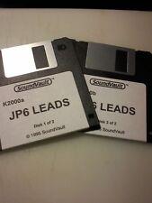KURZWEIL ~ JUPITER 6 LEADS ~ 2 Floppy Disk Set K2XXX/K2500/K2600 w/VAST PROGRAMS