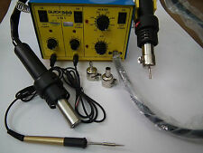 Original QUICK 900, 3 in 1 Hot Air Rework Station + Extra Gun + Micro Iron + BE