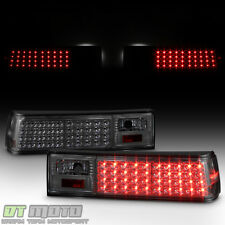 Smoked 1987-1993 Ford Mustang Full LED Tail Lights Lamps Aftermarket Left+Right