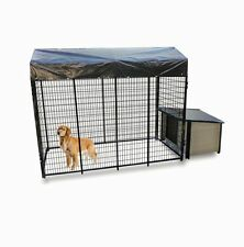 Basic K9 Condo Cabin Dog House & Kennel-Run Combination package