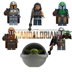 Star Wars The Mandalorian CUSTOM Lego Mini Figures Building Baby Yoda Cara Dune