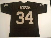 UNSIGNED CUSTOM Sewn Stitched Bo Jackson Black Jersey - M, L, XL, 2XL