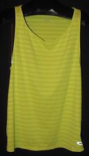 Ladies OAKLEY Muscle Girl Yellow Striped Stretch Loose Fitting Tank Top Size M