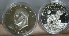 1973 S Proof Frosty Deep Cameo EISENHOWER Dollar  In AirTite Capsule