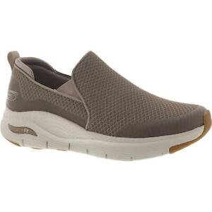 Skechers Mens Arch Fit Banlin Taupe Mesh Walking Shoes 9.5 Medium (D) BHFO 9438