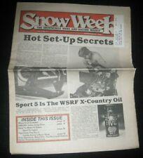 Vintage Snow Week Snowmobile Racing Newspaper Weekly Arctic Cat Ski Doo Polaris
