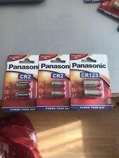 6 x cámara de fotos digital de Panasonic CR2 3V Batería ELCR 2 2028 de caducidad