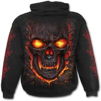 Spiral Direct SKULL LAVA - Hoodie Flames/Reaper/Skulls/Death/Hoody/Jumper