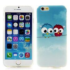 Apple iPhone 6 (4,7) Silikon Case Schutz Hülle Cover Bumper Schale Zwei Eule Owl