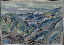 Expressive Landschaft, unleserlich signiert, um 1950