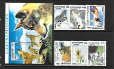 CAMBODIA Sc 2143-49 NH SET+S/S of 2001 - ANIMALS - WOLVES