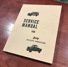 Jeep Utility Vehicles Service Manual