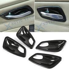 Carbon Fiber Style Inner Door Handle Bowl Cover Trim For BMW E90 Sedan 2005-2012