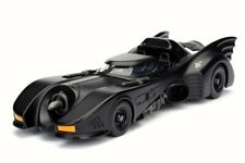 1989 BATMAN RETURNS BATMOBILE BLACK 1/24 SCALE DIECAST CAR BY JADA INACTIVE
