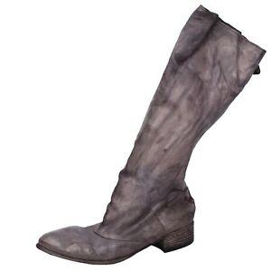 scarpe donna MOMA 37 stivali grigio pelle DT824