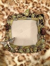 Beautiful Jeweled Pucture Frame Dragonfly Bee Butterfly Ladybug Awesome $75