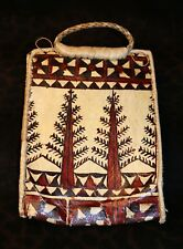 """Quality Tonga Tapa Hand Crafted Hand Bag or Purse 14.5""""h x 9.5""""d -Estate Item -"""