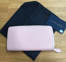 Ralph Lauren Portemonnaie rosa Damen Geldbörse Brieftasche Leder Börse Frauen