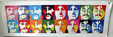 Psychedelic Beatles Poster Faces Rainbow 1999 Yellow Submarine Subafilms Print