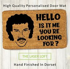Coir Door Mat HELLO is it me. Funny Novelty 40cm x 60cm Can Be Personalised