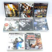 PS3 Game Lot Of 8 The Last Of Us Street Fighter God Of War Call Of Duty UFC
