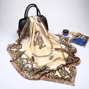 "Fashion Scarf Women Print Imitate Silk Large Square Shawl Stole Hijab 35""*35"""