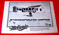 "Melanie Stoneground Words Vintage ORIG 1973 Press/Magazine ADVERT 11.5""x 8"" Folk"