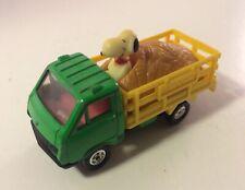 Aviva Snoopy Peanuts # C2 Green Hay Truck Vintage Diecast 1:64 - NICE