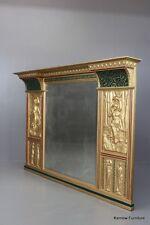 Large Antique Overmantle Mirror