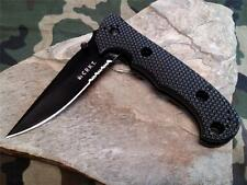 CRKT Hammond Cruiser Black Folding Knife Serrated 50/50 Reversable Clip 7914KN