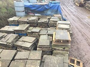 Reclaimed York Stone Paving Flagstones,  500 Sq Yards Available. London