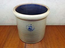 Vintage Red Wing? Stoneware Hand Turned Salt Glaze 2 Gallon Crock Blue Cobalt Vg