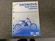 1985 1986 Honda Model CR500R Dirt Bike Motorcycle Shop Service Repair Manual