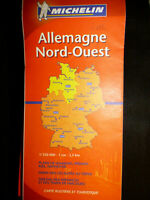 Carte michelin orange 541 region allemagne nord  ouest  2006