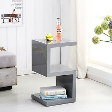 SQUARE GLOSS GREY SIDE/END TABLE~FREE DELIVERY