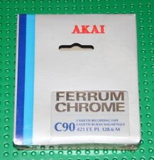 AKAI  FERRUM CHROME   90                     BLANK CASSETTE TAPE (1) (SEALED)