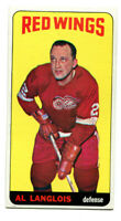 1964-65 Topps Tallboy Al Langlois Card #13 Detroit Red Wings