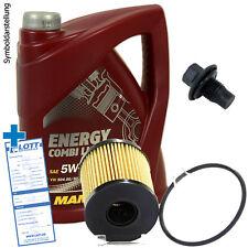 5L Mannol Energy Combi LL 5W-30 ÖL Motoröl + Filter + Schraube für Ford Peugeot