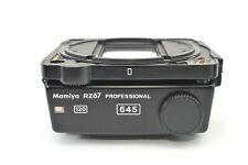 ✈︎Fedex【NEAR MINT】Mamiya RZ67 PRO 645 6x4.5 120 Film Back Holder From JAPAN M324