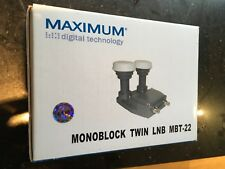 Twin Monoblock LNB for two receivers /1 twin tuner stb to see two sat positions