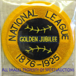 1925 NATIONAL LEAGUE GOLDEN JUBILEE Cooperstown PATCH Willabee & Ward PATCH ONLY