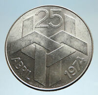 1974 PORTUGAL 25 Yrs Carnation Revolution Genuine Silver 250 Escudos Coin i75067