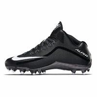New Nike Alpha Pro 2 3/4 TD Mid Mens Football Cleats : Black / White