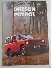 Datsun Patrol range brochure Nov 1982