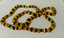 OLD AMBER NECKLACE  l 80 CM weight 47 grams