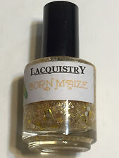 LACQUISTRY NAIL POLISH CORN MAIZE YELLOW GOLD HALLOWEEN GLITTER LACQUER INDIE