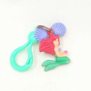 Vintage Little Mermaid ARIEL Bell Charm Clip Keychain Applause Disney