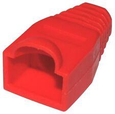 100 Manchons  protection pour RJ45 Fiche Prise Connecteur rouge réseau Ethernet